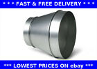 Reducer, galvanised steel ducting, hydroponic grow room, ventilation, extractor