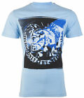DIESEL Mens T-Shirt T9-MOHICAN Mohawk LIGHT BLUE Casual Designer Jeans M-XL $58