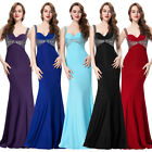 Backless V-Neck Ball Gown Evening Senior Prom Party Dress Bridesmaids Wedding