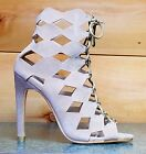 Cape Robbin Heidi Nude Diamond Cut Out Open Toe Ankle Boot Shoe Pump  6 - 11
