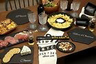 Mangé Serving Snack Bowls Olive Dishes Platters Trays Large Black Party Plate