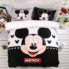Mickey Mouse Quilt/Doona/Duvet Cover Set Queen/King Size Cartoon Bed Linen New