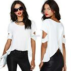 New Fashion Women Summer Boho Loose Casual Tops Off Shoulder Sexy T-Shirt Blouse