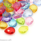 "Gift Wholesale Mixed Faceted Teardrop Acrylic Charm Pendants 10x8mm(3/8""x3/8"")"