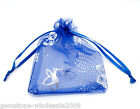 Wholesale NEW 7x9cm Blue Butterfly Organza Wedding Gift Bags&Pouches
