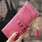 Fashion Womens Frosted Wallet Flower Envelope Purse Card Holder Bag Long Handbag