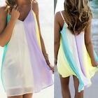 New #B Women Summer Casual Sleeveless Evening Party Beach Dress Short Mini Dress