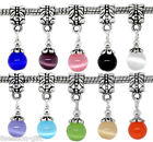 Gift Wholesale Cat's Eye Glass Dangle Beads Fit Charm Bracelet