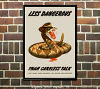Less Dangerous than Careless Talk - US WWII Propaganda Poster