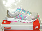 NEW BALANCE KT 501 SBY LACE UP TRAINERS. SILVER/PINK/SKY BLUE. BNIB
