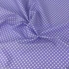LILAC colour POLKA DOT 100% cotton fabric  per FQ, half metre or metre