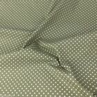 MOSS GREEN colour POLKA DOT 100% cotton fabric  per FQ, half metre or metre