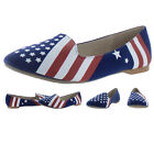 Chelsea Crew Abe Women's Slip On Loafer Flats Shoes American Flag
