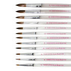 BR08 1Pc, 3Pcs Clear Nail Acrylic Sable Brush-No.2,4,6,8,10,12,14,16,18,20,22,24