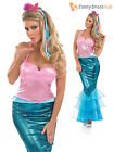 Ladies Little Mermaid Costume Adult Sexy Sea Fancy Dress Womens Outfit  UK 8 -30