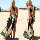 Women Long Maxi Dress Off Shoulder Multi-Color Casual Fashion Sundress S0BZ!
