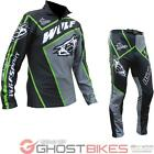 Wulf Arena Adult Black Green Trials Kit Wulfsport Off Road Two Piece Set Unisex