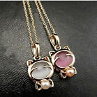 Hellokitty Jewelry Cute Pearl Stone Pendant Chain Necklace  Kt73