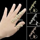 Women Fashion Jewelry Rings Multiple Finger Stack Knuckle Band Crystal Set S0BZ