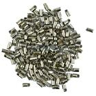 100 Packs of Brass Tube Crimp End Beads Jewelry Findings 7x3.8mm