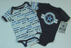 Lot 2 NWT New DALLAS COWBOYS Baby Jersey Onepiece Creeper Newborn Infant 3 -12 M