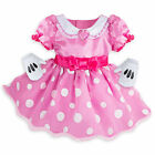 Disney Store Minnie Mouse Baby Costume Dress w/ Gloves Size 3 6 12 18 24 Months