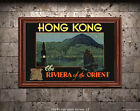 Hong Kong - Riviera of the Orient - Vintage Travel Poster