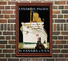 CP - To Canada & USA #1 - Vintage Steamship Sea Travel Poster