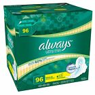 Always Ultra Thin Regular Pads with Wings 96 ct. Free Shipping NEW