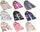 Ladies Women's Girl's Scarf Summer Butterfly Birds Animals Print Reduce to Clear