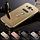Aluminum Metal Mirror Case +PC Back Cover For Samsung Galaxy