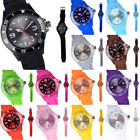 Ladies Women Girl Geneva Silicone Quartz Crystal Stone Jelly Quartz Wrist Watch image