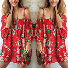 Summer Women Sexy Evening Cocktail Beach Casual Mini Floral Party Short Dress RD