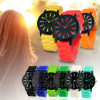 Unisex Men Women Silicone Rubber Jelly Gel Quartz Analog Sports Wrist Watch image