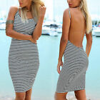CHIC Fashion Women Summer Sleeveless Bodycon Party Evening Cocktail Mini Dress