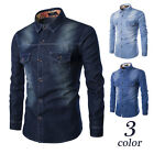 2016 Newest Luxury Men's Jeans Casual Slim Fit Stylish Wash-Vintage Denim Shirts