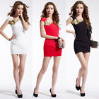 New Women's Sexy Bodycon Dress Cocktail Party Club Casual Short Bandage Dress