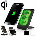 3 Coils Qi Wireless Charger Charging Pad Stand Foldable Holder for SAM S7 S8 G6