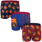 FC Barcelona Official Soccer Gift 3 Pack Boys Crest Boxer Shorts