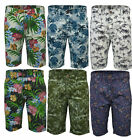 Mens Threadbare Fashion 100% Cotton Summer Long Shorts Chino Hawaiian Paisley