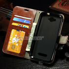 For LG L Fino,D295 / D290N Card Leather Stand Wallet Case Cover Skin