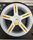 *2016 MODEL* POWAKADDY REPLACEMENT PAIR OF WHEELS (WHITE/YELLOW) 2 WHEELS