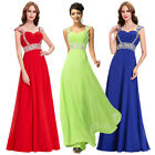 Sexy Formal Long Chiffon Evening Party Dress Bridesmaid Prom Wedding Cap Sleeve