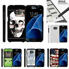 For Samsung Galaxy S7| Slim Fit Hard 2 Piece Case USA Skull
