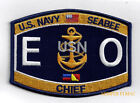 Equipment Operator CHIEF EOC RATING HAT PATCH US NAVY VET PIN UP USS SEABEES