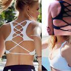 Workout Bra Crop Top Racerback Seamless Yoga Sports Women Racerback Fitness N4U8