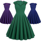 BP Vintage Retro Style 50's Dress Swing Casual Housewife Party Pin Up Tea Dress