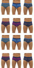 Mens Tom Franks 100% Cotton Printed-Plain  Y Fly Front BRIEFS underwear 12 Pack