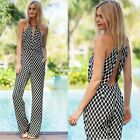 Sexy Women Halter Backless Long Romper Jumpsuit Playsuit Casual Trouser Pants