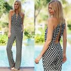 New Women Ladies Sexy Polka Dots Halter Backless Romper Jumpsuit Playsuit EN24H